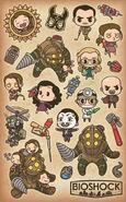 BioShock Rapture Sticker Sheet