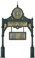 Cartello Gondola per Monument Island