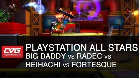 PlayStation All Stars Big Daddy vs Radec vs Heihachi vs Fortesque