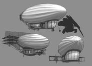 Civilian Airship Concept Art