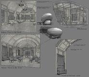 Civilian Airship Interior Concept Art