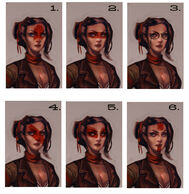 Female Vox Face Paint & Glasses Concept