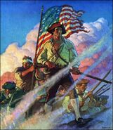 The Old Continentals by NC Wyeth