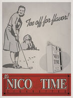 """Nico-Time """"Tee off for flavor"""" Advertisement"""