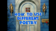 How to use different poetry