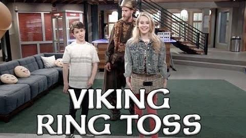 Viking Guy Ring Toss Bizaardvark Disney Channel