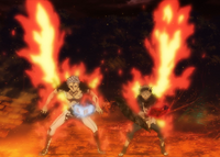 Mars and Asta recovering in fire.png