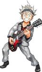 Asta playing guitar