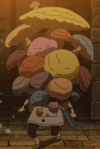 Charmy covered in mushrooms