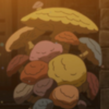 Charmy covered in mushrooms.png