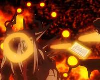 Feitiço de bola de fogo gigante sem nome-disparadas da boca