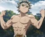 Asta muscular build