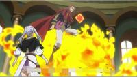 Fuegoleon taking Noelle to battlefield