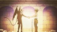 Asta and Liebe shake hands