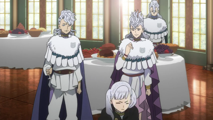 Noelle forced to leave the banquet by her siblings.png