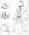 Temple priests initial concept masks and robe