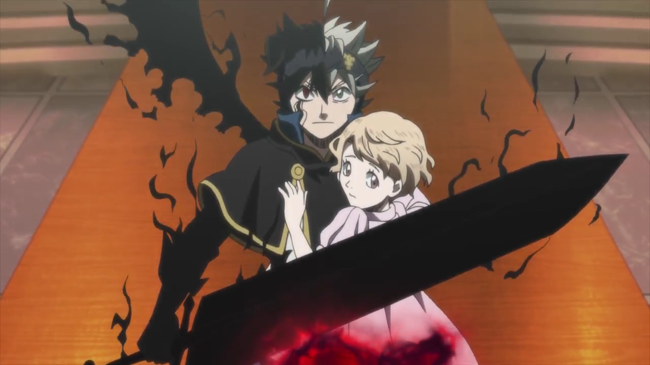 Asta protects Marie from execution.png