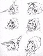 Temple priests initial concept masks
