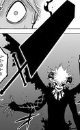 Liebe usando la espada de Danma