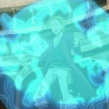 Sekke activating his magic.png
