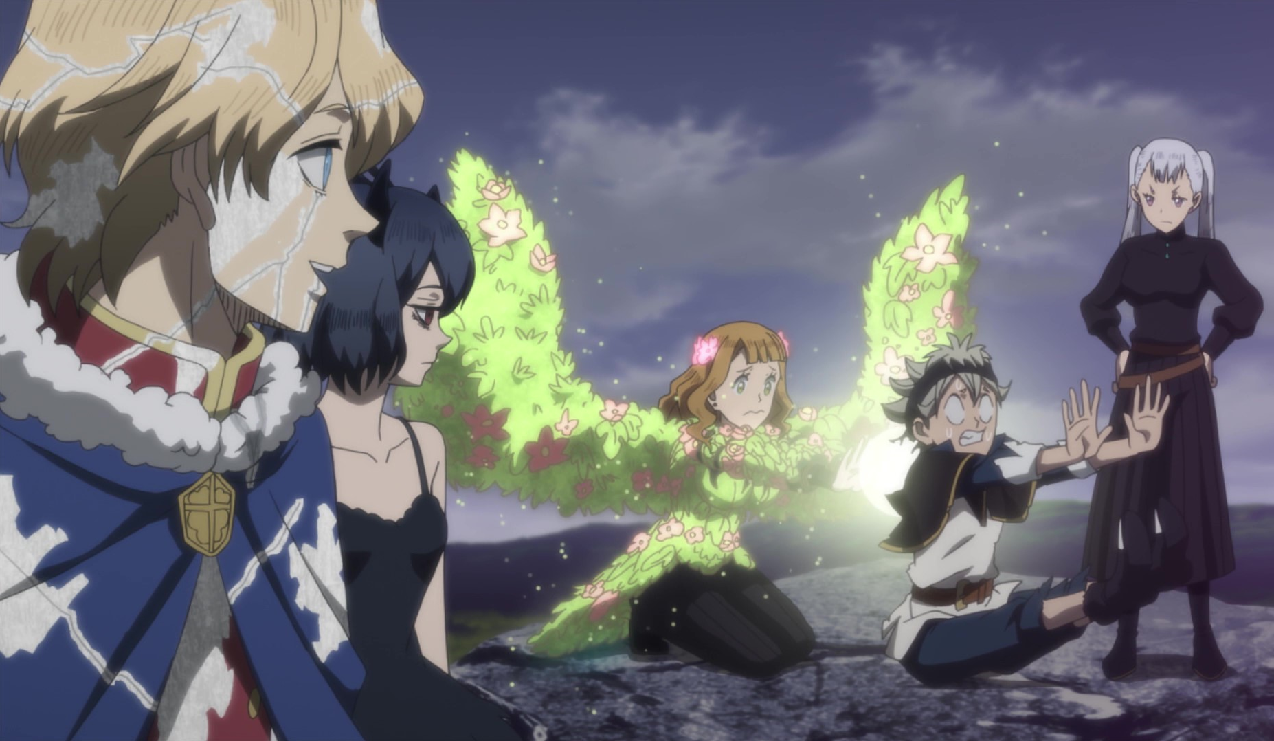 Mimosa heals Asta after the battle with Zagred.png