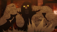 Sol summoning an earth golem.png