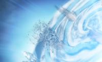 Ninho do dragão do mar defendendo projeteis de gelo