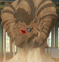 Asta restrained by a sand sentry.png