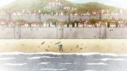 Yami washes ashore