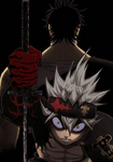 Asta's right arm after making a devil's bargain