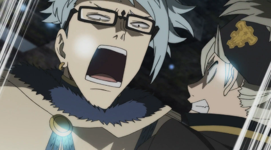 Asta bickering with Klaus in a dungeon.png