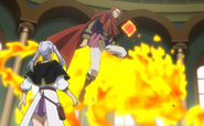 Fuegoreon taking Noelle to battlefield
