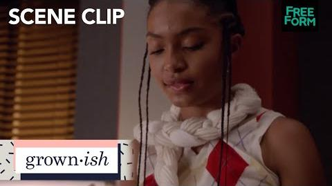 Grown-ish season 1, episode 2 zoey finally finishes her paper freeform