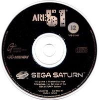 Area 51 Sega Saturn cd