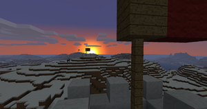 Sunset behind the Red Front.
