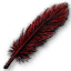 Quest crow DarkRed feather.png
