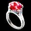 Acc red gem platinum ring.png