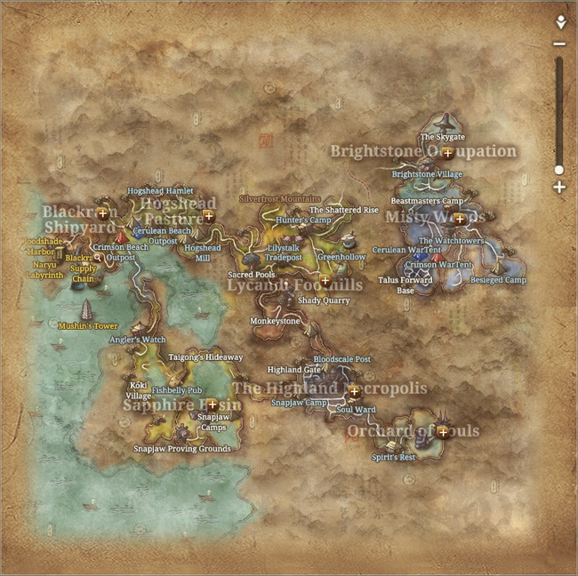 Map of Moonwater Plains