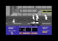 Blade Runner Commodore 64 screenshot and vehicles