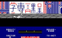 Blade Runner amstrad cpc screenshot crashed into a jaywalker.png
