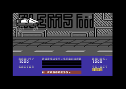 Blade Runner Commodore 64 screenshot about to land.png