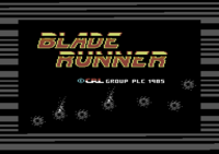 Blade Runner Commodore 64 screenshot title loading from tape
