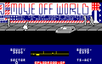 Blade Runner amstrad cpc screenshot another skimmer approaching