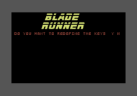 Blade Runner Commodore 64 screenshot your first assignment