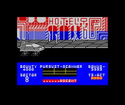 Blade Runner ZX Spectrum screenshot then descend to street.png