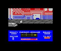 Blade Runner ZX Spectrum screenshot let the chase begin