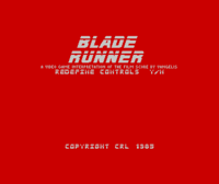 Blade Runner ZX Spectrum screenshot you get to redefine the controls every time you play