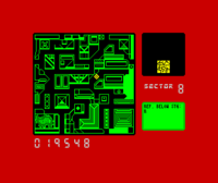 Blade Runner ZX Spectrum screenshot you begin by hunting the replidoirds using this map