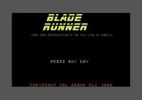 Blade Runner Commodore 64 screenshot startup