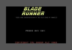 Blade Runner Commodore 64 screenshot startup.png